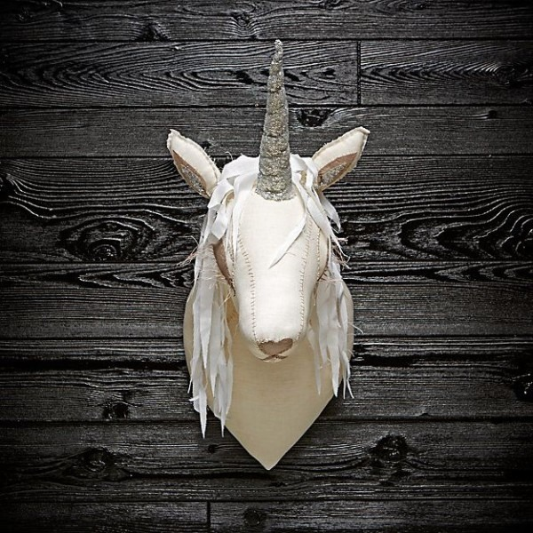 Blue Unicorn Head By Tamar Mogendorff