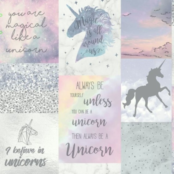 Buy Believe In Unicorns Glitter Metallic Wallpaper Girls Arthouse