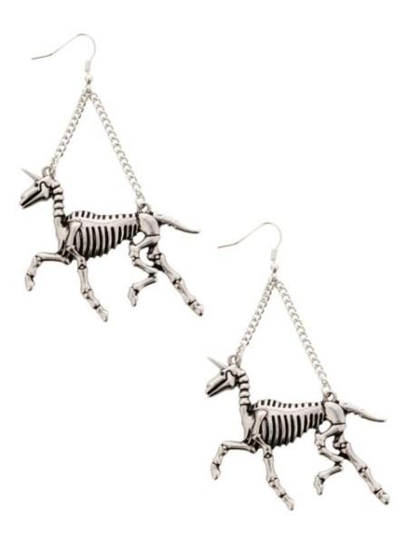 Buy Fad Treasures Unicorn Skeletons Earrings Earring Online