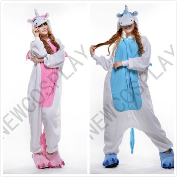 Buy Lovers Cartoon One Piece Sleepwear Blue Unicorn Pajamas Pink