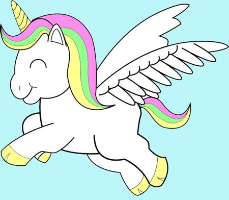 Cartoon Unicorn Wallpaper