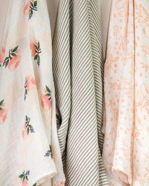 Cotton Muslin Swaddle Blanket Set