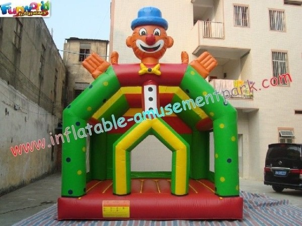 Customized Kids Clown Inflatable Commercial Bouncy Jumping Castles