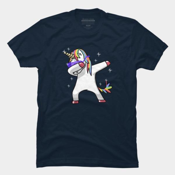 Dabbing Unicorn Shirt Dab Hip Hop Funny Magic T Shirt By