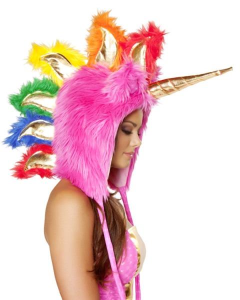 Deluxe Hot Pink Unicorn Hood