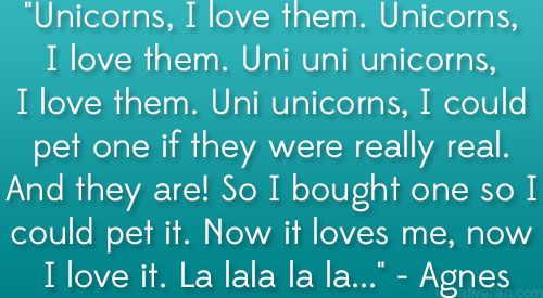 Despicable Me Quote Unicorn