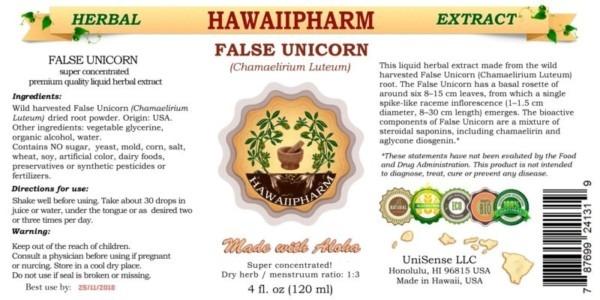 False Unicorn Liquid Extract, False Unicorn (chamaelirium Luteum