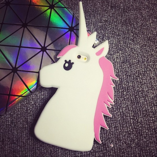 Fashion 3d Cartoon Unicorn Soft Silicone Rubber Case Cover For