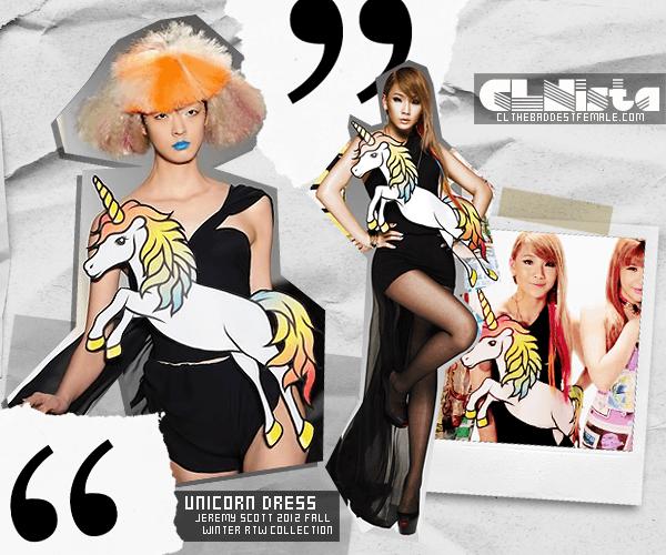 Fashion] Lee Chaerin Wears Jeremy Scott's Unicorn Dress (june 25