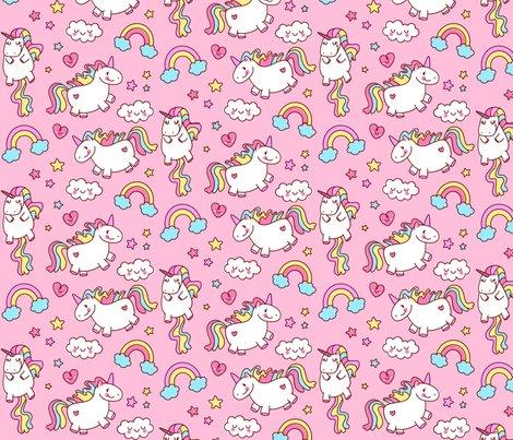 Fat Unicorn Pink    Girls Cute Bedroom Decor Nursery Wallpaper