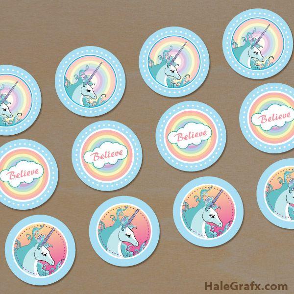 Free Printable Unicorn Cupcake Toppers