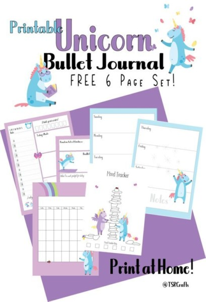 Free Printable Unicorn Planner Free 6 Page Sample Set Try My