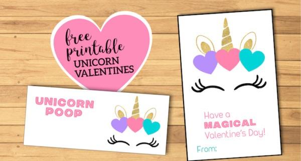 Free Printable Unicorn Valentine Cards