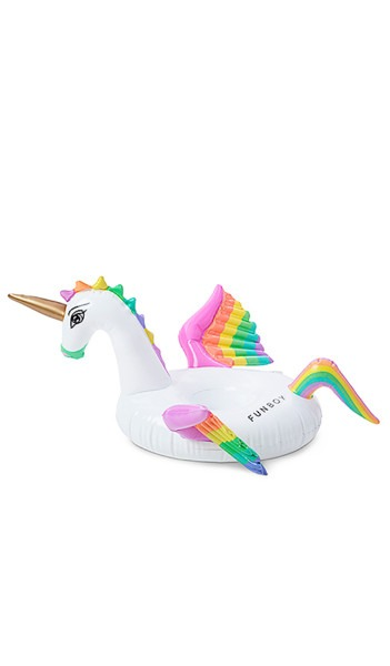 Funboy Rainbow Unicorn Inflatable Drink Holder In Multi