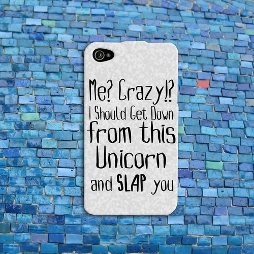 Funny Animal Unicorn Quote Case Cute Rubber Cell Phone Cover
