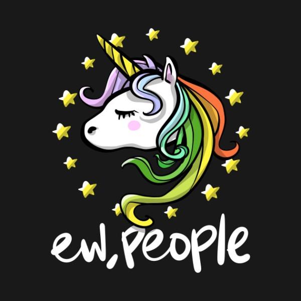 Funny Rainbow Unicorn Quote
