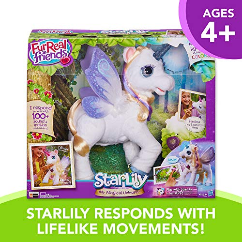 Furreal Starlily My Magical Unicorn Interactive Plush Pet Toy