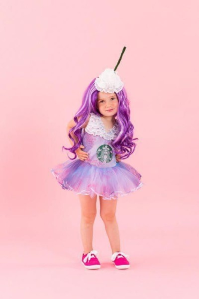 Get Colorful With This Adorable Unicorn Frappuccino Girl Costume