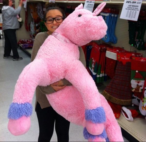 Giant Pink Unicorn On The Hunt