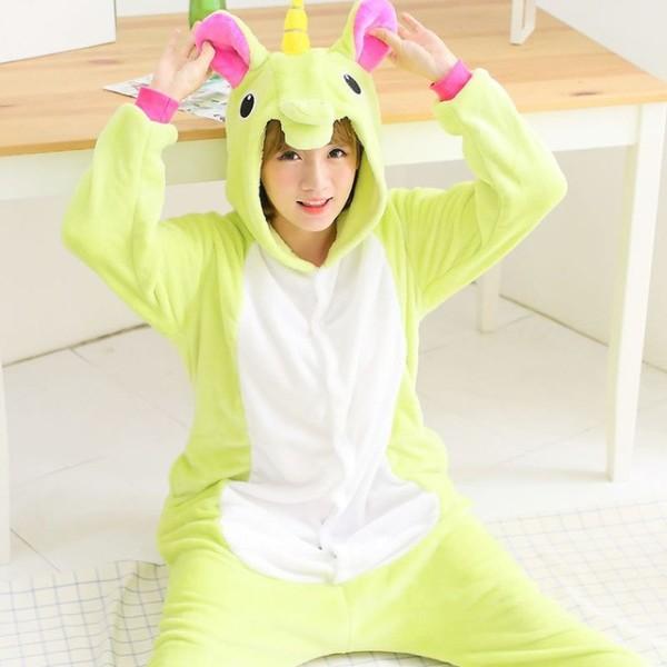 Green Pegasus Adult Unicorn Pajamas Unicorn Onesies Animal Pajamas