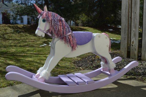 Handmade Rocking Unicorn Unicorn Rocking Horse Nursery
