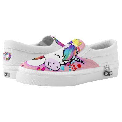 Happy Unicorn Slip On Shoes