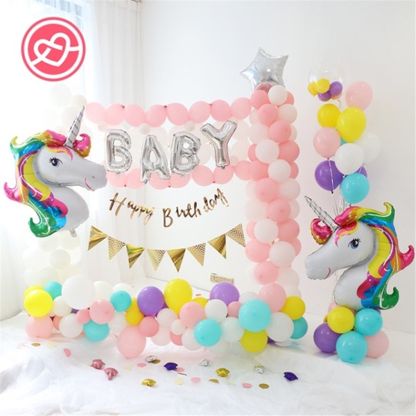 Hot Sale 1set Birthday Unicorn Party Balloons Decorations 39 Inch