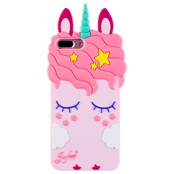 Iphone 7 Plus Case, Iphone 8 Plus Pink Unicorn Case, Joyleop