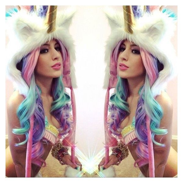 J  Valentine Deluxe Unicorn Hood ❤ Liked On Polyvore Featuring