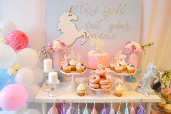 Kara's Party Ideas Elegant Pastel Unicorn Soiree