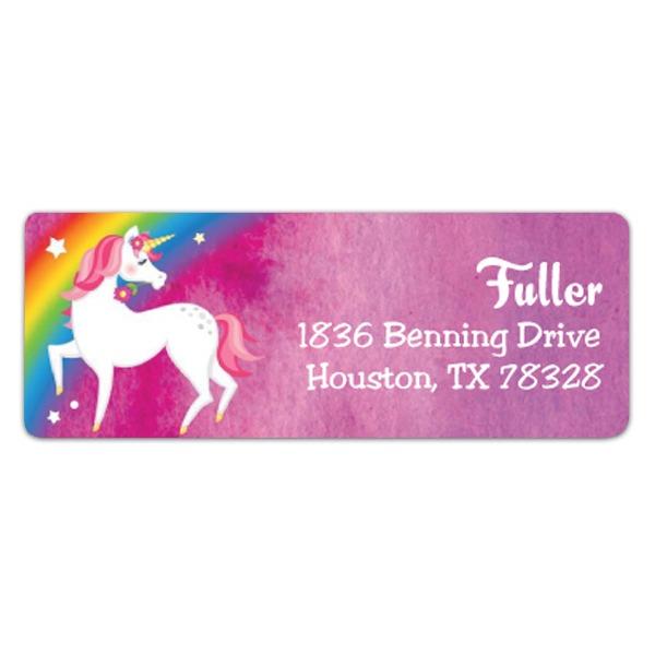 Magical Unicorn Return Address Labels