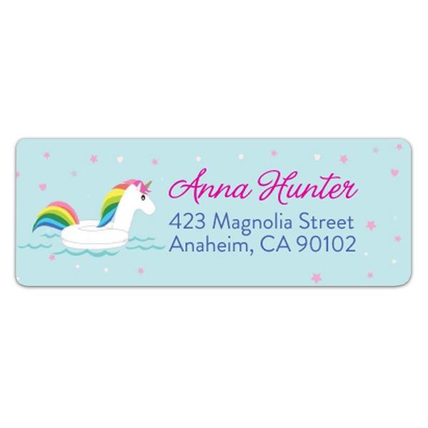 Make A Splash Unicorn Float Return Address Labels