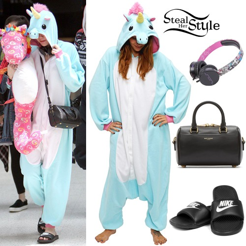 Miley Cyrus  Unicorn Onesie Outfit