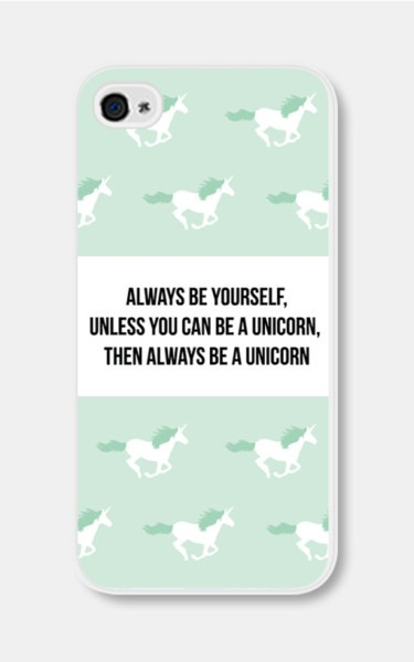 Mint Green Unicorn Iphone Case Always Be Yourself By Fieldtrip
