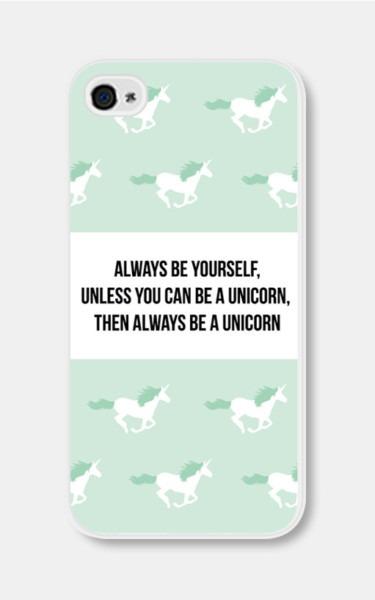 Mint Green Unicorn Iphone Case Always Be Yourself By Fieldtrip