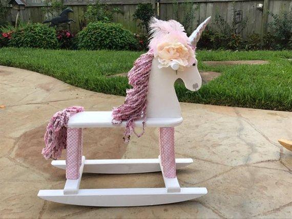 Miss Clara Rocking Unicorn Rocking Horse Wooden Toy Ride