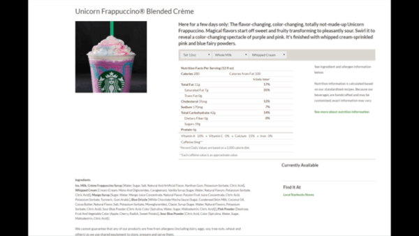 New, Magical Unicorn Drink To Arrive At Starbucks