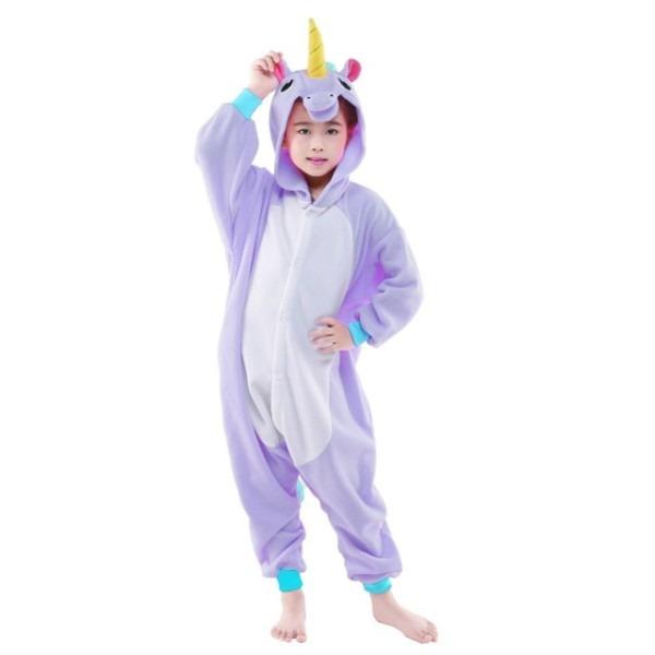 Newcosplay Children Halloween Cosplay Costume Cartoon Purple