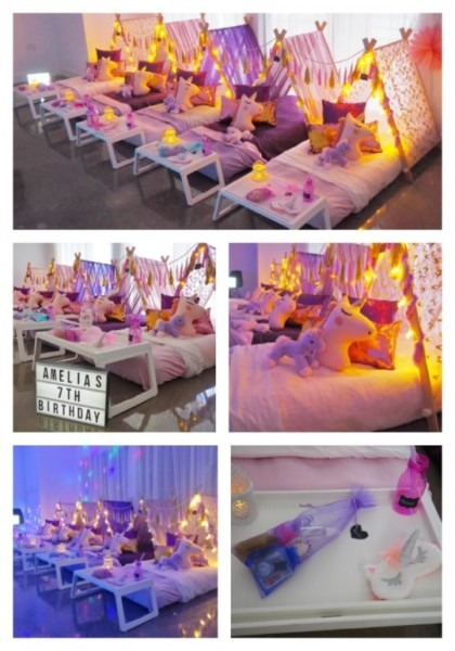 Our Beautiful Slumber Party Tent Unicorn Party