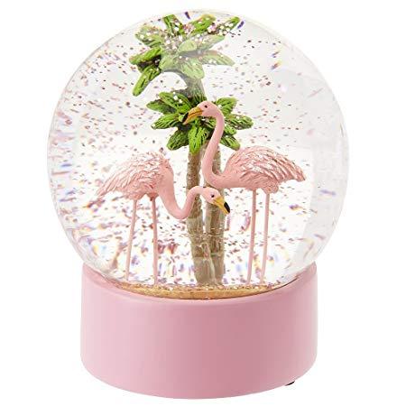 Paperchase Flamingo Christmas Snow Globe  Amazon Co Uk  Kitchen & Home