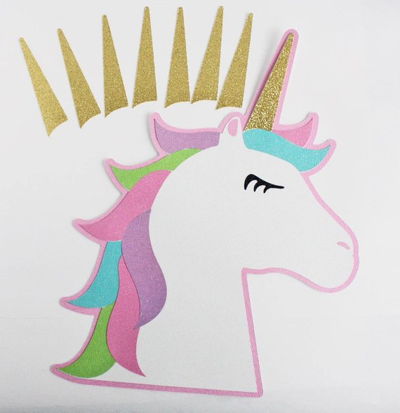 Pin The Horn On The Unicorn  Unicorn Party Game Party Game The