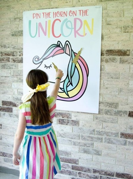 Pin The Horn On The Unicorn Game Printable (instant Download) By