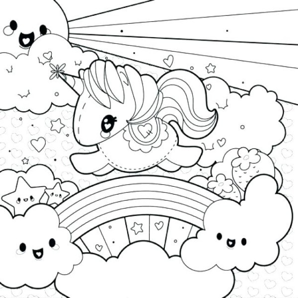 Pot Of Gold Rainbow Coloring Page Free Coloring Pictures Rainbow
