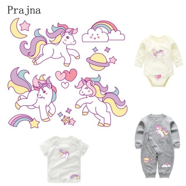 Prajna Colorful Unicorn Transfers Cheap Cartoon Heat Transfer For