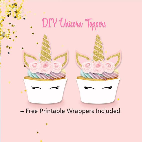Printable Unicorn Cupcake Toppers Diy Unicorn Toppers And