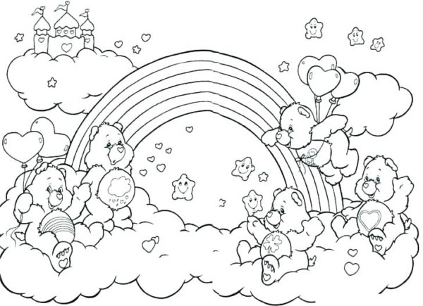 Rainbow Coloring Pages For Kids Rainbow Dash Color Pages Kids