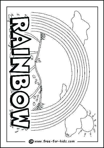 Rainbow Coloring Pages Printable Rainbows Coloring Pages Image Of