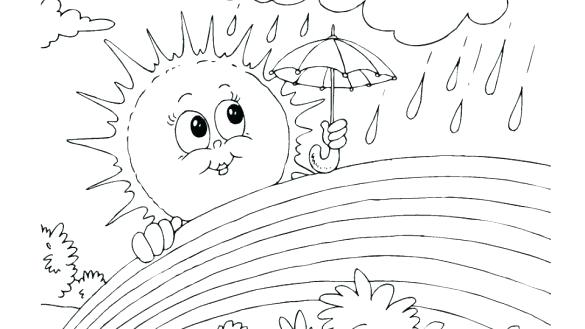 Rainbow Coloring Pages Printable The Rainbow Coloring Page Rainbow