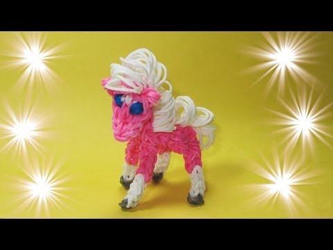 Rainbow Loom Horse   Pony Design   Tutorial (loom   Bands, Diy