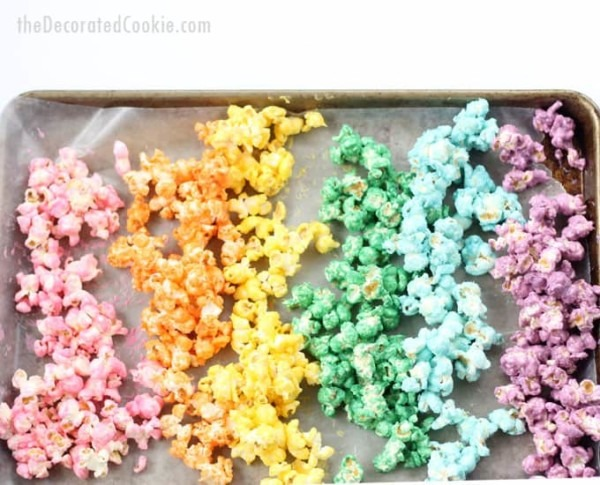 Rainbow Popcorn For A Rainbow Or Unicorn Party  With Video